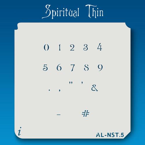 AL-NST Spiritual Thin - Numbers  Stencil