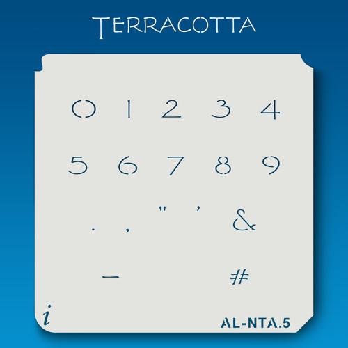 AL-NTA Terracotta - Numbers  Stencil