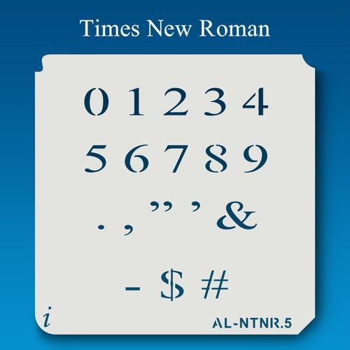AL-NTNR Times New Roman - Numbers  Stencil
