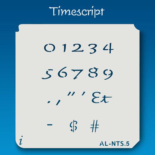 AL-NTS Timescript - Numbers  Stencil