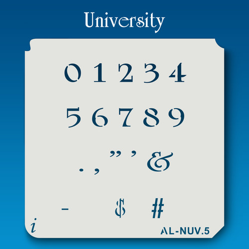AL-NUV University - Numbers  Stencil