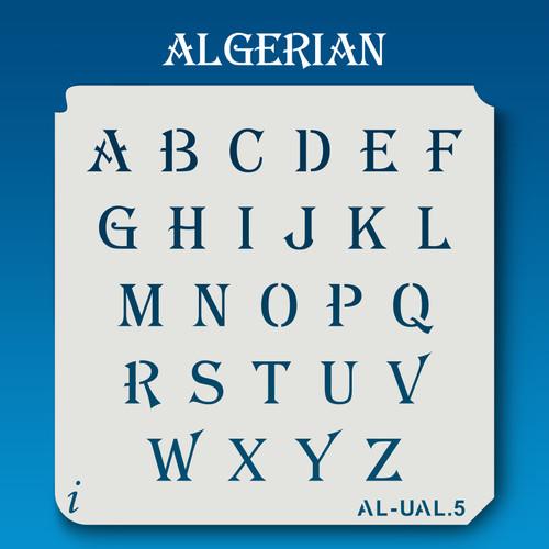 AL-UAL Algerian - Alphabet Stencil Uppercase