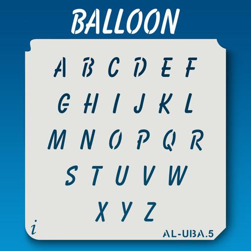AL-UBA Balloon - Alphabet Stencil Uppercase