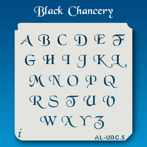 AL-UBC Black Chancery - Alphabet Stencil Uppercase