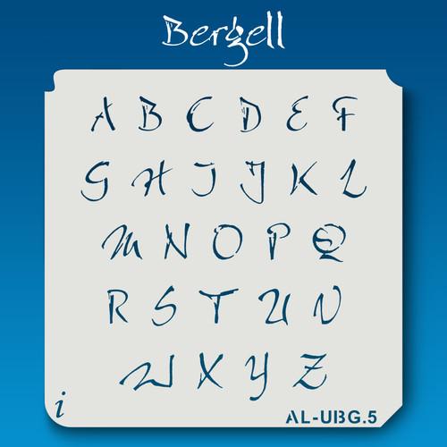 AL-UBG Bergell - Alphabet Stencil Uppercase