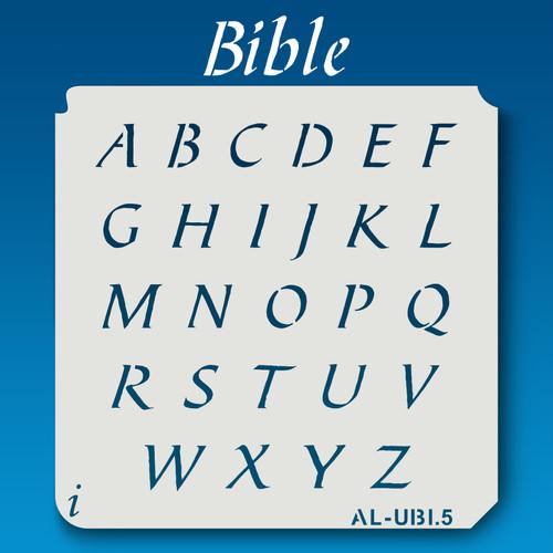 AL-UBI Bible - Alphabet Stencil Uppercase