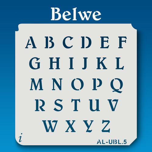 AL-UBL Belwe  -Alphabet Stencil Uppercase