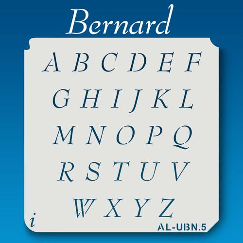 AL-UBN Bernard - Alphabet Stencil Uppercase