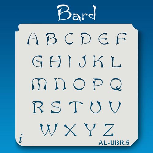 AL-UBR Bard - Alphabet Stencil Uppercase