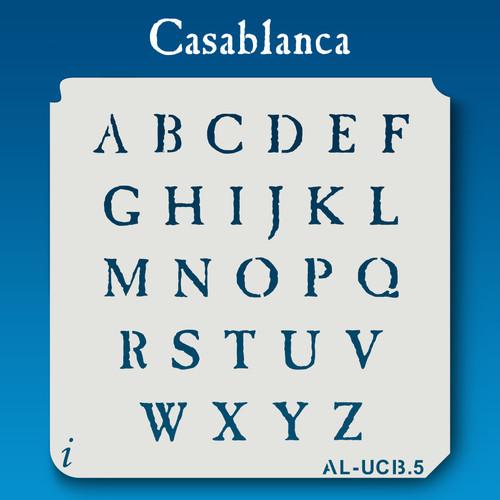 AL-UCB Casablanca - Alphabet Stencil Uppercase