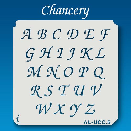 AL-UCC Chancery - Alphabet Stencil Uppercase