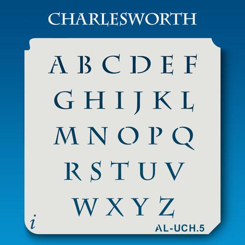 AL-UCH Charlesworth - Alphabet Stencil Uppercase