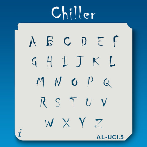 AL-UCI Chiller - Alphabet Stencil Uppercase