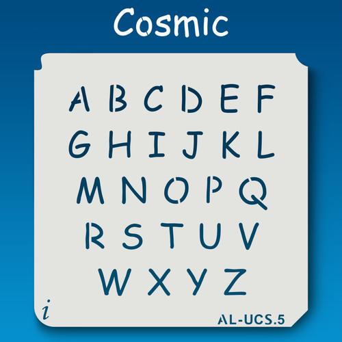 AL-UCS Cosmic - Alphabet Stencil Uppercase