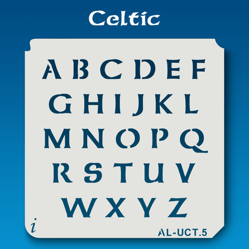AL-UCT Celtic - Alphabet Stencil Uppercase