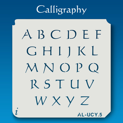AL-UCY Calligraphy - Alphabet Stencil Uppercase