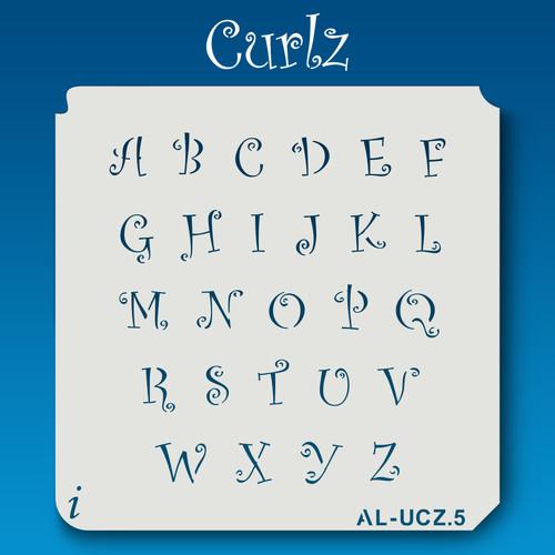 AL-UCZ Curlz - Alphabet Stencil Uppercase