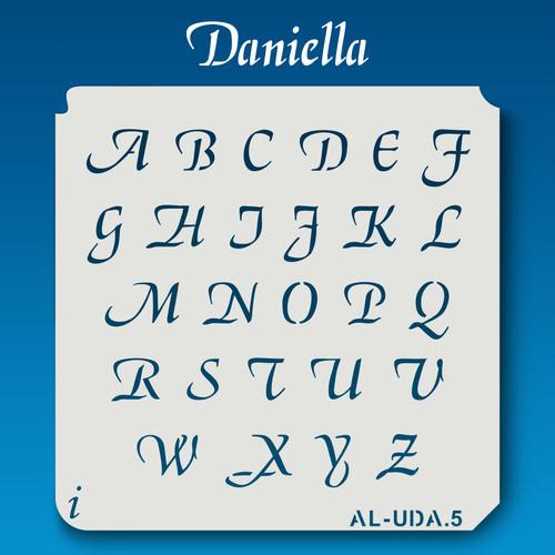 AL-UDA Daniella - Alphabet Stencil Uppercase