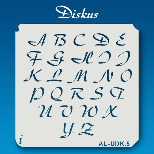 AL-UDK Diskus - Alphabet Stencil Uppercase