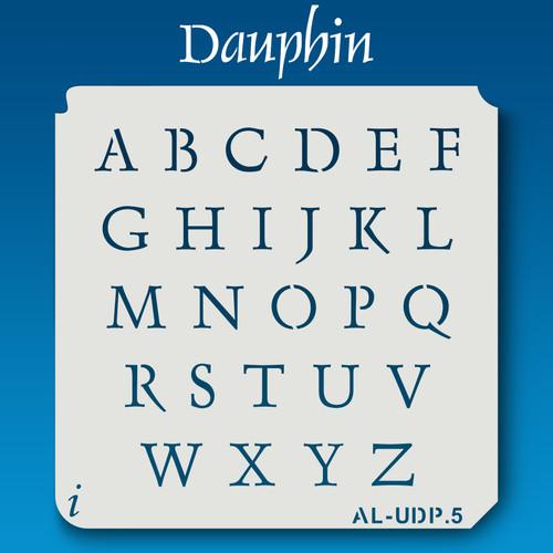 AL-UDP Dauphin - Alphabet Stencil Uppercase