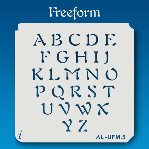AL-UFM Freeform - Alphabet Stencil Uppercase