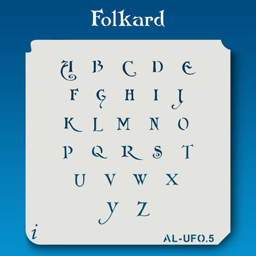 AL-UFO Folkard - Alphabet Stencil Uppercase