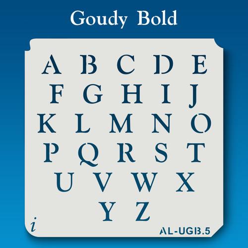 AL-UGB Goudy Bold - Alphabet Stencil Uppercase