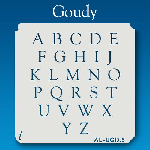 AL-UGD Goudy - Alphabet Stencil Uppercase