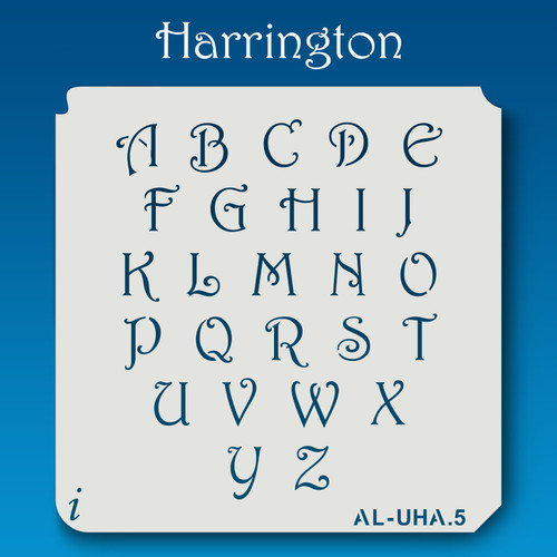 AL-UHA Harrington - Alphabet Stencil Uppercase