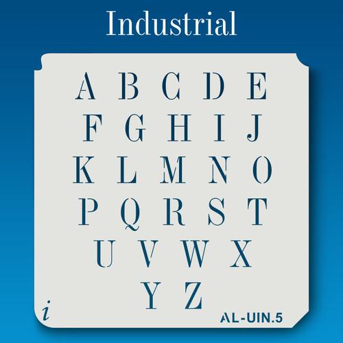 AL-UIN Industrial - Alphabet Stencil Uppercase