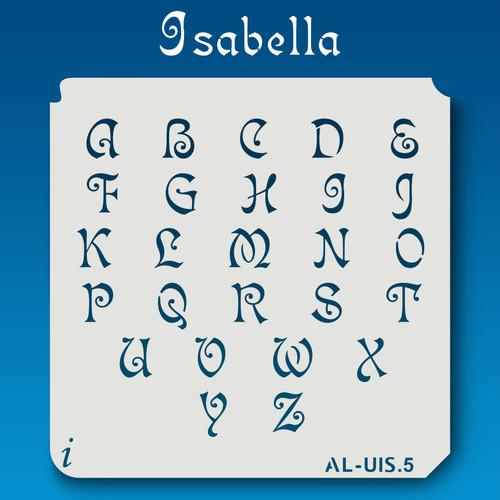 AL-UIS Isabella - Alphabet Stencil Uppercase
