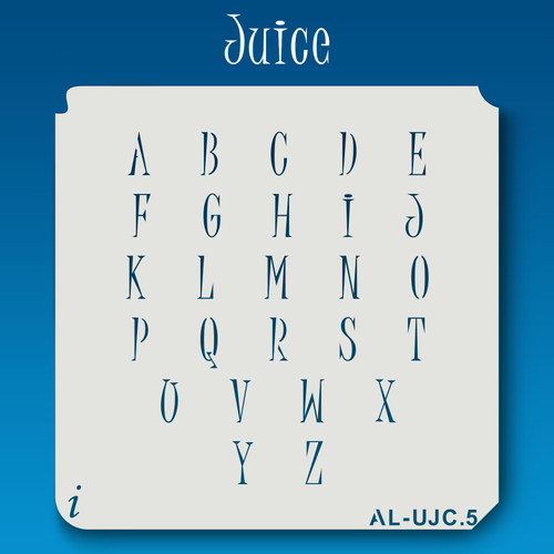 AL-UJC Juice - Alphabet Stencil Uppercase