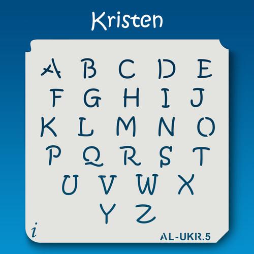 AL-UKR Kristen - Alphabet Stencil Uppercase