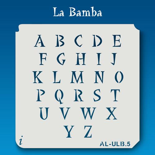AL-ULB La Bamba - Alphabet Stencil Uppercase