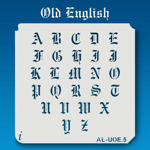 AL-UOE Old English - Alphabet Stencil Uppercase