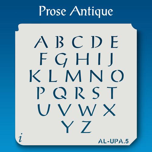 AL-UPA Prose Antique - Alphabet Stencil Uppercase