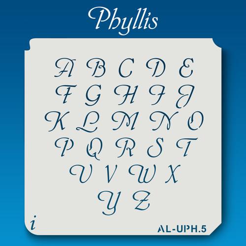 AL-UPH Phyllis - Alphabet Stencil Uppercase