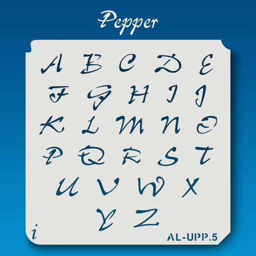 AL-UPP Pepper - Alphabet Stencil Uppercase