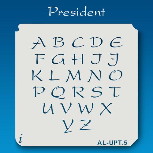 AL-UPT President - Alphabet Stencil Uppercase