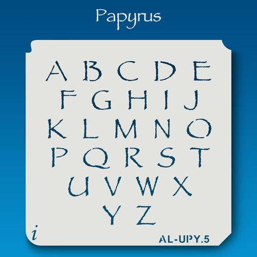 AL-UPY Papyrus - Alphabet Stencil Uppercase