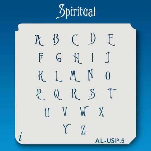 AL-USP Spiritual - Alphabet Stencil Uppercase