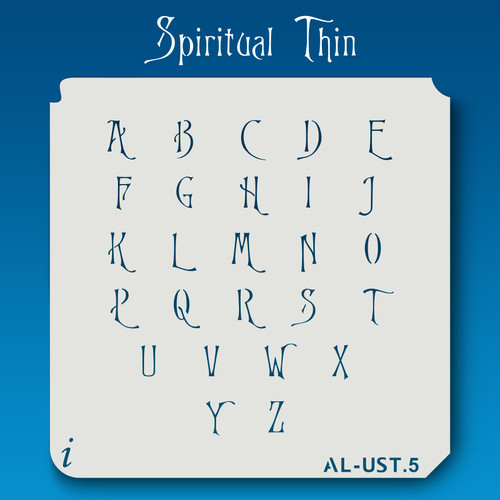 AL-UST Spiritual Thin - Alphabet Stencil Uppercase