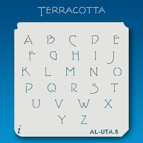 AL-UTA Terracotta - Alphabet Stencil Uppercase