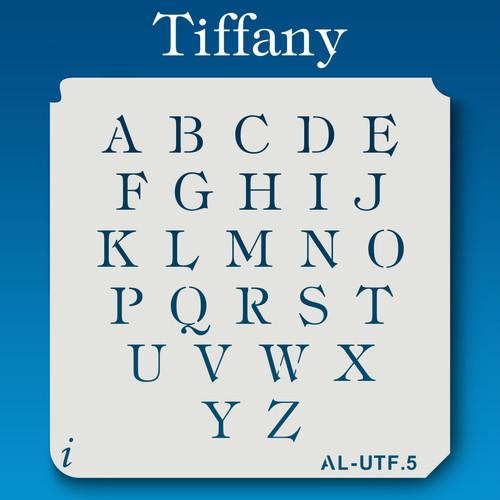 AL-UTF Tiffany - Alphabet Stencil Uppercase