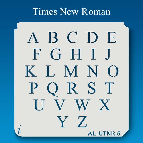 AL-UTNR Times New Roman  - Alphabet Stencil Uppercase