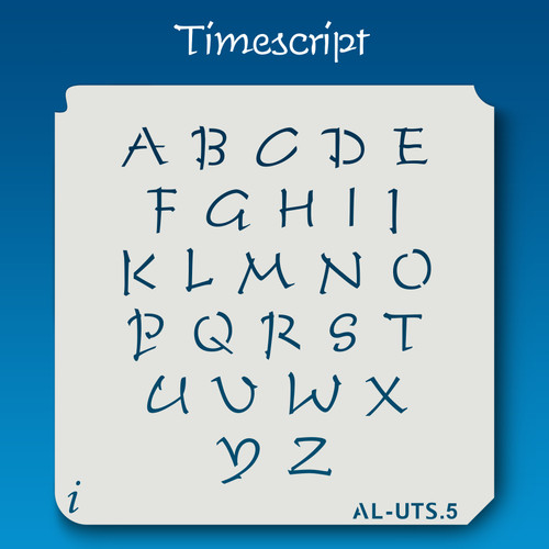 AL-UTS Timescript - Alphabet Stencil Uppercase