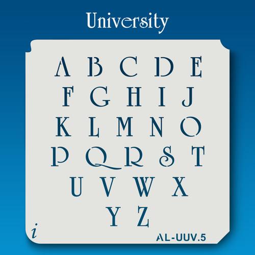 AL-UUV University - Alphabet Stencil Uppercase