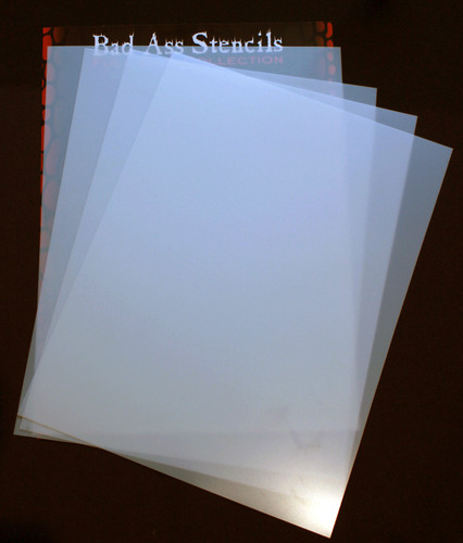 "BM-8.5"" x 11"" blank mylar sheets (4sheets per pack)"