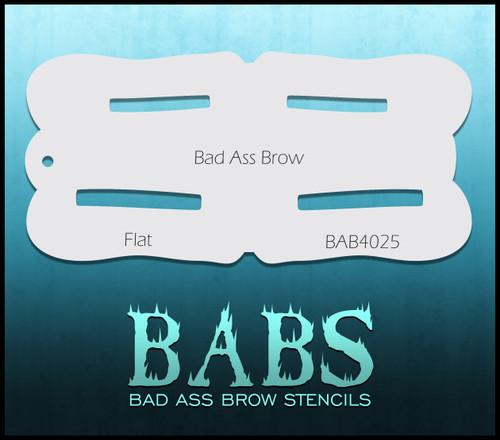 BB-BAB 4025 Flat eyebrow stencil