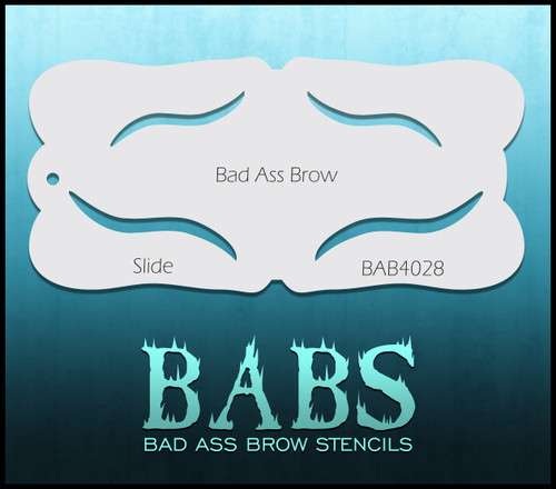 BB-BAB 4028 Slide eyebrow stencil